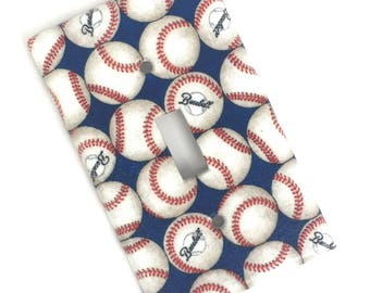Baseball Light Switch Plate Cover