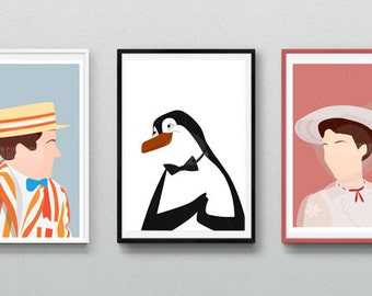3 Posters Mary Poppins / Instant Download / A5 Size