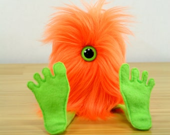 Nervous Nelly Plush Monster Toy- Orange