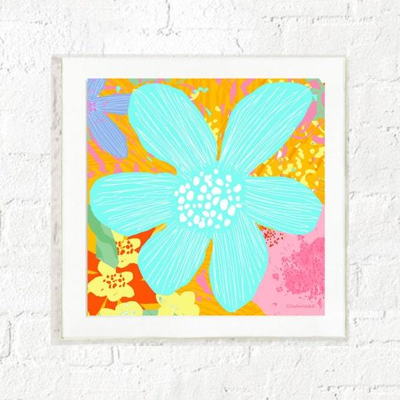 Pastel floral print, girl's nursery wall art, kid's wall decor, children's room prints, nursery posters, kid's room prints, art for kids