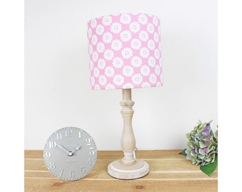 Pink Daisy Floral Pretty Vintage Shabby Chic Drum Lampshade Country Light Shade