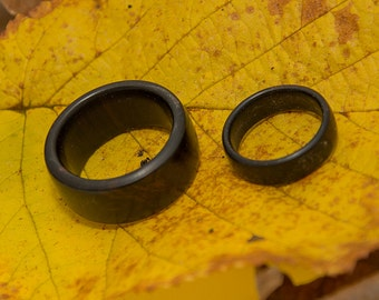 Wooden Rings, His & Hers, made in African Blackwood no.117