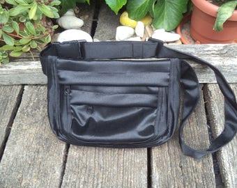 Black hip bag,belt bag,fanny pack
