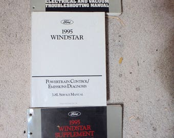 3- 1995 ford Winstar manuals- electrical evtm manual & supplement and 3.8L service