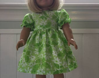 "Short Sleeve Dress for an 18"" American Girl Doll"