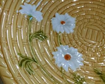 Beautiful Golden Majolica Decorative Dish