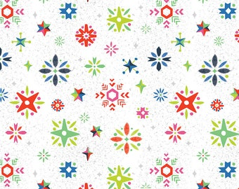 SALE Way Up North Snowflake Multi - Riley Blake Designs - Christmas - Quilting Cotton Fabric - choose your cut