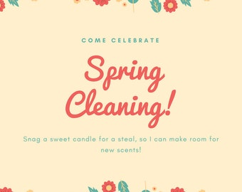 Spring Clean Out Candles