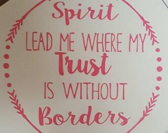 Spirit Lead Me Decal