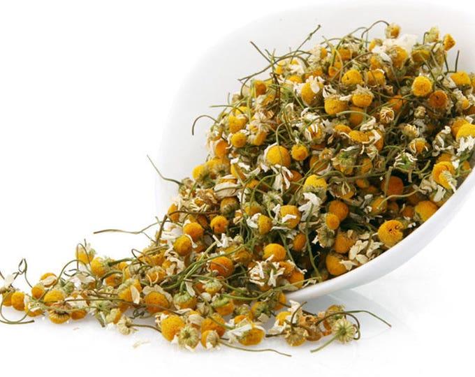 Chamomile Flowers cut and sifted | Matricaria recutita L. | Dried Bulk Herb | 1 oz bag
