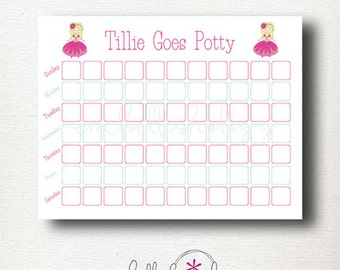 Custom Prince or Princess Potty Training Chart with Optional Matching Reward Certificate