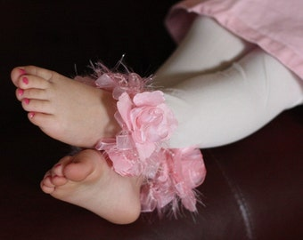 Pink and White toddler Girls Easter Stockings/Tights