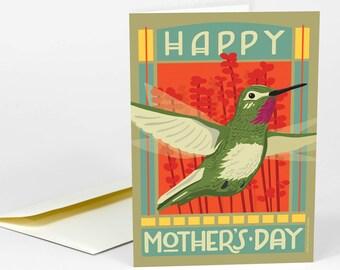 Carte de voeux Fête des mères heureux jour