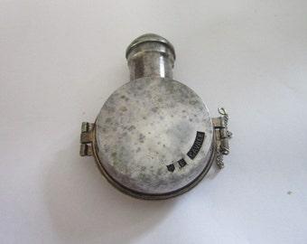 Rare Antique Silverplate Perfume Bottle Case Safe - Paris - Wow!