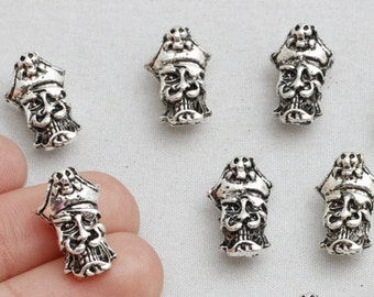 15Pcs Antique Silver Caribbean Pirate Beads, Pirate Beads, 17x10mm(Approx),sku/CTN19