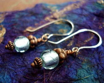 Copper Ice Sterling Silver Earrings