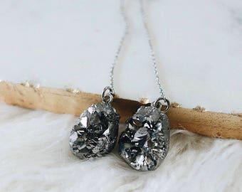 Druzy Drop Earrings | Dangle | Wedding Jewelry | Nickel Free
