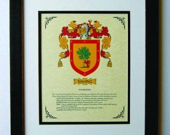 HERALDY COAT of ARMS ~ Ramirez Family Crest ~ Framed