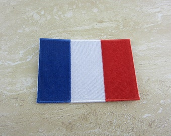 FRANCE FLAG Patch Iron On