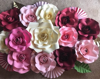 """Wall Decoration paper flowers size 25""""x38"""""""