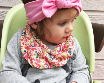 Bubble Gum Pink top knot - baby headband