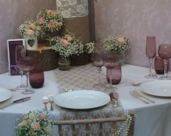 10 x Pearl Chair Decor, Wedding Chair Décor