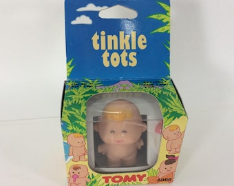 TOMY Tinkle Tots 1990s Toy Sealed Box Collectible Peeing Tot #6000 Blonde Bottle