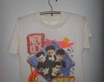 Vintage New Kid On The Block 1990 T Shirt NKOTB R & B Hip Hop Tee