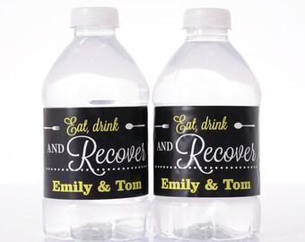 100 Wedding Water Bottle Labels - Wedding Water Labels - Custom Water Bottle Labels - Waterproof Water Bottle Labels