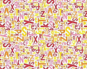 Riley Blake Alphabet - Back to School- Crayola Color Me/Pink/Cotton/Fabrics/Sewing/Quilting