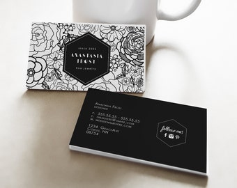 Anastasia double sided business card - Instant download
