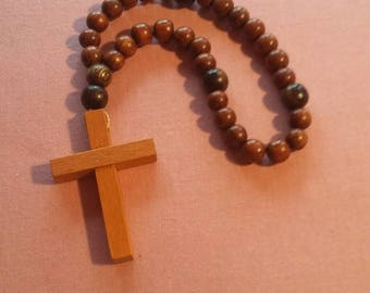 Wooden Anglican Protestant rosary