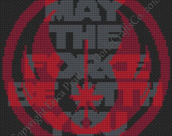 May The Force Be With You Cross Stitch Chart PDF Download