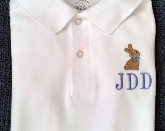 Monogrammed Embroidered Collared Shirts