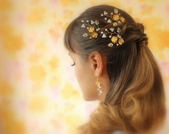 Bridal Hair Pins Gold Tone Hairpins Wedding Hair Pins Wedding Hairpins Bridal Hairpin