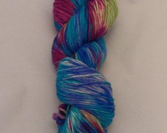 Circles- Merino Sport Weight Yarn- Hand Dyed- OOAK- 0033