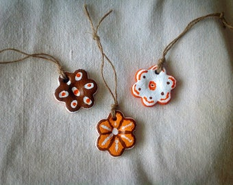 Salt Dough Petite Flower Ornaments