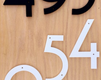 7 inch Art Deco House Numbers Letters
