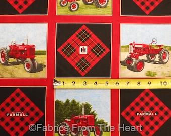 "Farmall Traktoren International Harvester Betrüger 5"" Block 42 pro Einheit-Baumwoll-Stoff"