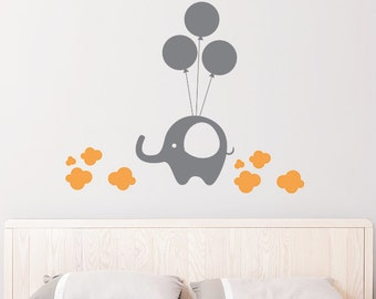 Elephant in the Clouds Removable Wall Sticker