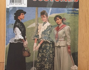 Uncut Simplicity 9761  Jana Belus Historical Two Piece Victorian Dress - size 18-20-22