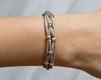 Gold Bead Bracelet | Gold Bracelet | Bead Bracelet | Stretch Bracelet | Stacking Bracelet | Yoga Jewelry | Beaded Bracelet | Yoga Bracelet