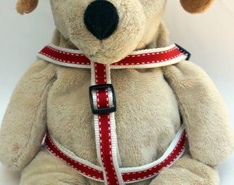 Preppy in Red Step-In Dog Harness