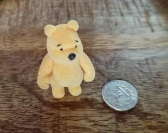Vintage Flocked Winnie the Pooh Miniature