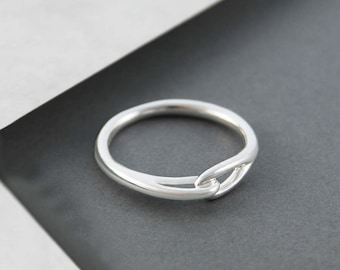 Sterling Silver Ring, Plain Band Ring, Contemporary Silver Ring, 925 Silver Ring, Eternity Ring, Modern Ring, Simple Ring, Silver Band Ring