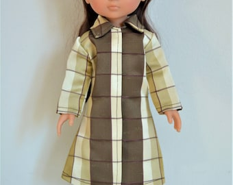 """Handmade Doll Clothes Coat fits 13"""" Corolle Les Cheries Dolls Christmas G"""