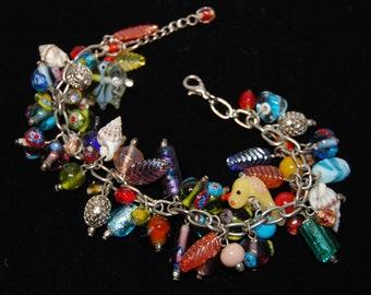 Crazy Multi Charmed Bracelet