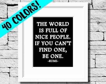 Rumi Quote, Rumi Print, Rumi Quote Art, Kindness Print, Be Kind Print, Dreamer Quote, Inspirational Rumi Print, Motivational Wall Art