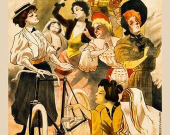 Rouxel & Dubois Bicycle Poster (#0267) 6 sizes