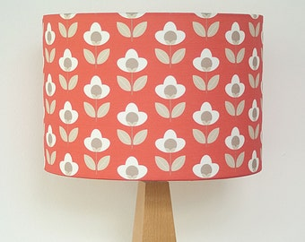 Red Tulip print Floral Drum Lampshade Lamp Shade Lightshade